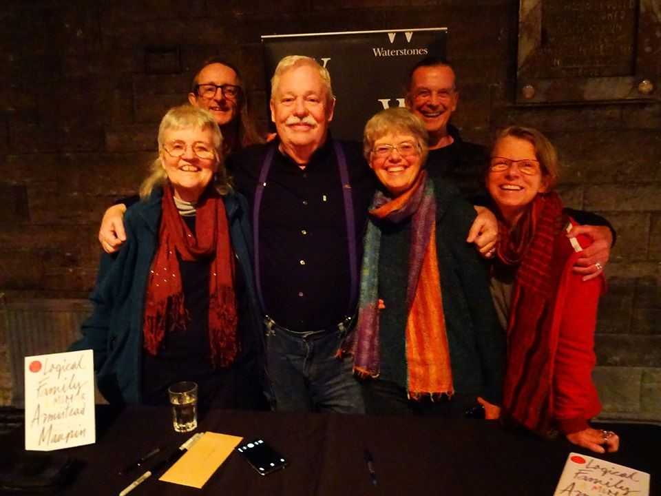 Photo: Armistead Maupin and the Menaces at a reading of Logical Family, 2017