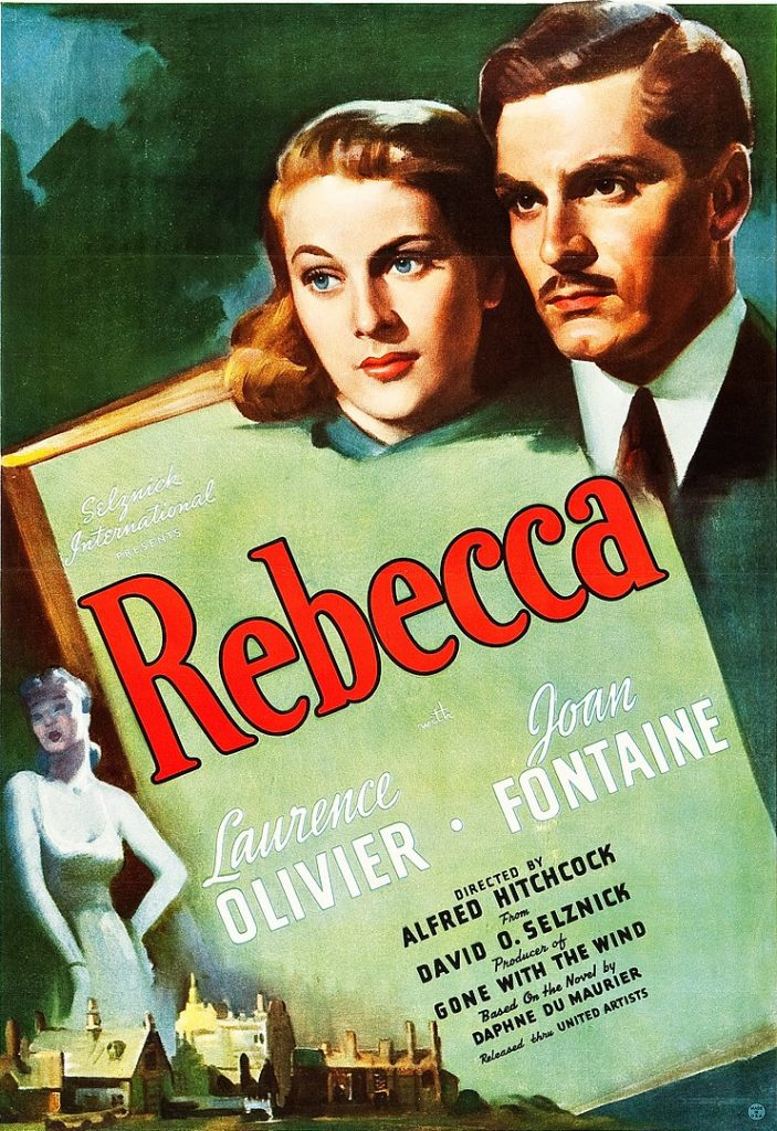 Image: Poster advertising the 1940 film Rebecca
