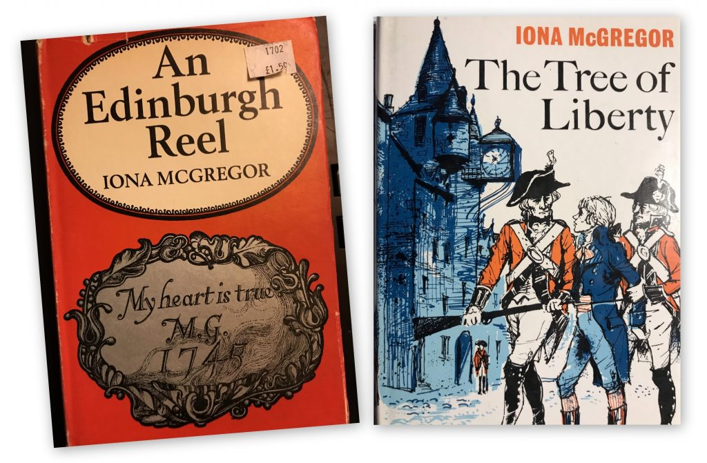 Book covers: An Edinburgh Reel and The Tree of Liberty