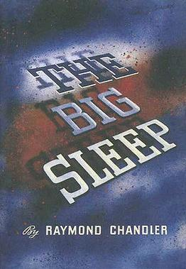 Book cover: The Big Sleep, Raymond Chandler, Knopf, 1st Edition, 1939