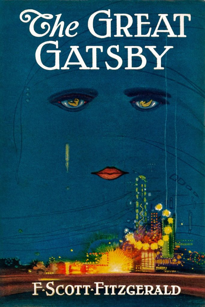 Book cover: The Great Gatsby by F Scott Fitzgerald, Charles Scribners' Sons, 1st Edition, 1925